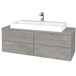 Dreja - Kúpeľňová skrinka MODULE SZZ4 120 - D01 Beton / D01 Beton (336615)