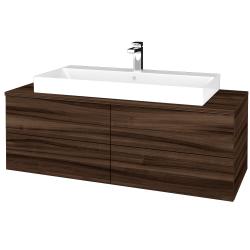 Dreja - Kúpeľňová skrinka MODULE SZZ4 120 - D06 Ořech / D06 Ořech (336660)