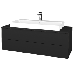 Dreja - Kúpeľňová skrinka MODULE SZZ4 120 - L03 Antracit vysoký lesk / L03 Antracit vysoký lesk (336769)