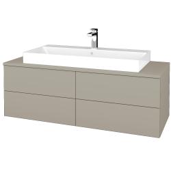 Dreja - Kúpeľňová skrinka MODULE SZZ4 120 - L04 Béžová vysoký lesk / L04 Béžová vysoký lesk (336776)