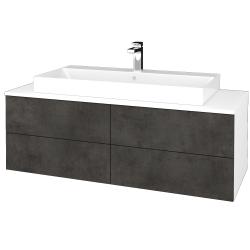 Dreja - Kúpeľňová skrinka MODULE SZZ4 120 - N01 Bílá lesk / D16 Beton tmavý (336912)