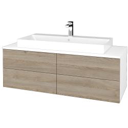 Dreja - Kúpeľňová skrinka MODULE SZZ4 120 - N01 Bílá lesk / D17 Colorado (336929)