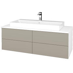 Dreja - Kúpeľňová skrinka MODULE SZZ4 120 - N01 Bílá lesk / M05 Béžová mat (336943)