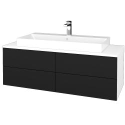 Dreja - Kúpeľňová skrinka MODULE SZZ4 120 - N01 Bílá lesk / N08 Cosmo (337018)