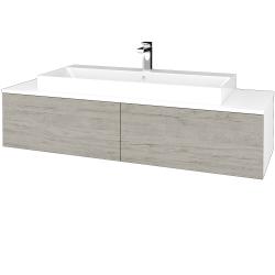 Dreja - Kúpeľňová skrinka MODULE SZZ12 140 - N01 Bílá lesk / D05 Oregon (337834)