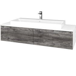 Dreja - Kúpeľňová skrinka MODULE SZZ12 140 - N01 Bílá lesk / D10 Borovice Jackson (337872)