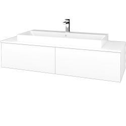 Dreja - Kúpeľňová skrinka MODULE SZZ12 140 - N01 Bílá lesk / M01 Bílá mat (337919)
