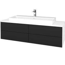 Dreja - Kúpeľňová skrinka MODULE SZZ4 140 - N01 Bílá lesk / L03 Antracit vysoký lesk (338459)