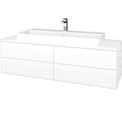 Dreja - Kúpeľňová skrinka MODULE SZZ4 140 - N01 Bílá lesk / L01 Bílá vysoký lesk (338510)