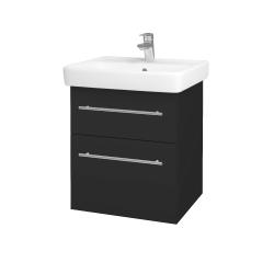Dreja - Kúpeľňová skriňa Q MAX SZZ2 55 - N03 Graphite / Úchytka T02 / N03 Graphite (198121B)