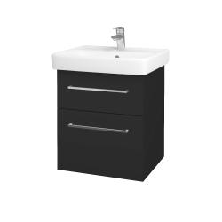 Dreja - Kúpeľňová skriňa Q MAX SZZ2 55 - N03 Graphite / Úchytka T04 / N03 Graphite (198121E)