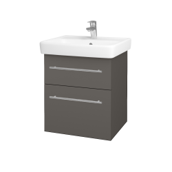 Dreja - Kúpeľňová skriňa Q MAX SZZ2 55 - N06 Lava / Úchytka T02 / N06 Lava (198138B)