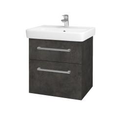 Dreja - Kúpeľňová skriňa Q MAX SZZ2 60 - D16  Beton tmavý / Úchytka T03 / D16 Beton tmavý (198329C)