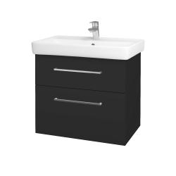 Dreja - Kúpeľňová skriňa Q MAX SZZ2 70 - N03 Graphite / Úchytka T04 / N03 Graphite (198497E)