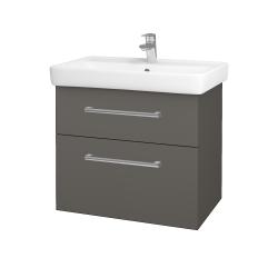 Dreja - Kúpeľňová skriňa Q MAX SZZ2 70 - N06 Lava / Úchytka T03 / N06 Lava (198503C)
