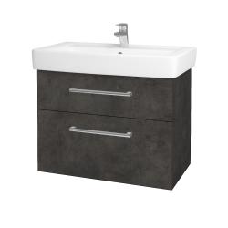 Dreja - Kúpeľňová skriňa Q MAX SZZ2 80 - D16  Beton tmavý / Úchytka T03 / D16 Beton tmavý (198558C)