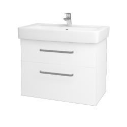 Dreja - Kúpeľňová skriňa Q MAX SZZ2 80 - M01 Bílá mat / Úchytka T01 / M01 Bílá mat (198572A)