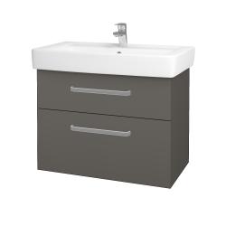 Dreja - Kúpeľňová skriňa Q MAX SZZ2 80 - N06 Lava / Úchytka T01 / N06 Lava (198701A)