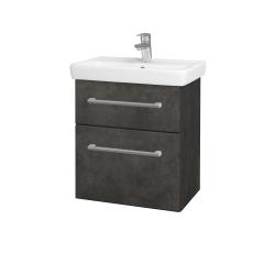 Dreja - Kúpeľňová skriňa GO SZZ2 55 - D16  Beton tmavý / Úchytka T03 / D16 Beton tmavý (204631C)
