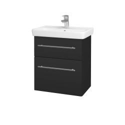 Dreja - Kúpeľňová skriňa GO SZZ2 55 - N03 Graphite / Úchytka T02 / N03 Graphite (204761B)