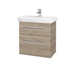 Dreja - Kúpeľňová skriňa GO SZZ2 60 - D17 Colorado / Úchytka T02 / D17 Colorado (204839B)