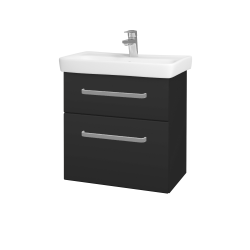 Dreja - Kúpeľňová skriňa GO SZZ2 60 - N03 Graphite / Úchytka T01 / N03 Graphite (204969A)