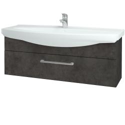 Dreja - Kúpeľňová skriňa TAKE IT SZZ 120 - D16  Beton tmavý / Úchytka T03 / D16 Beton tmavý (207304C)