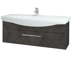 Dreja - Kúpeľňová skriňa TAKE IT SZZ 120 - D16  Beton tmavý / Úchytka T04 / D16 Beton tmavý (207304E)