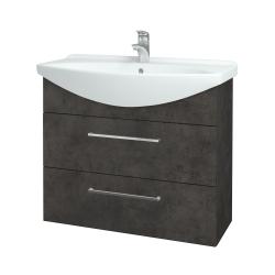 Dreja - Kúpeľňová skriňa TAKE IT SZZ2 85 - D16  Beton tmavý / Úchytka T04 / D16 Beton tmavý (207786E)