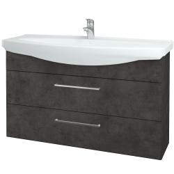 Dreja - Kúpeľňová skriňa TAKE IT SZZ2 120 - D16  Beton tmavý / Úchytka T04 / D16 Beton tmavý (208103E)