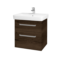 Dreja - Kúpeľňová skriňa Q MAX SZZ2 60 - D21 TOBACCO / Úchytka T01 / D21 Tobacco (275624A)