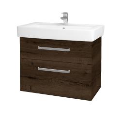 Dreja - Kúpeľňová skriňa Q MAX SZZ2 80 - D21 TOBACCO / Úchytka T01 / D21 Tobacco (275709A)