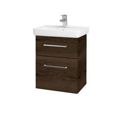 Dreja - Kúpeľňová skriňa GO SZZ2 50 - D21 TOBACCO / Úchytka T04 / D21 Tobacco (278816E)