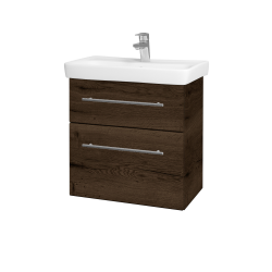 Dreja - Kúpeľňová skriňa GO SZZ2 60 - D21 TOBACCO / Úchytka T02 / D21 Tobacco (278892B)