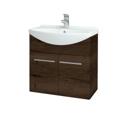 Dreja - Kúpeľňová skriňa TAKE IT SZD2 65 - D21 TOBACCO / Úchytka T02 / D21 Tobacco (279059B)
