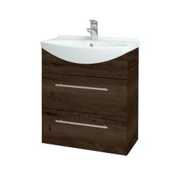 Dreja - Kúpeľňová skriňa TAKE IT SZZ2 65 - D21 TOBACCO / Úchytka T02 / D21 Tobacco (279097B)