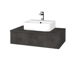 Dreja - Kúpeľňová skrinka MODULE SZZ 80 - D16  Beton tmavý / D16 Beton tmavý (297039)