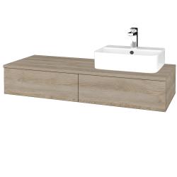 Dreja - Kúpeľňová skrinka MODULE SZZ2 120 - D17 Colorado / D17 Colorado / Pravé (300333P)