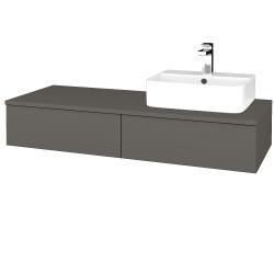 Dreja - Kúpeľňová skrinka MODULE SZZ2 120 - N06 Lava / N06 Lava / Pravé (300401P)