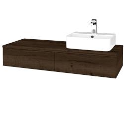Dreja - Kúpeľňová skrinka MODULE SZZ2 120 - D21 TOBACCO / D21 Tobacco / Pravé (300661P)