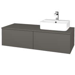 Dreja - Kúpeľňová skrinka MODULE SZZ12 120 - N06 Lava / N06 Lava / Levé (300876)