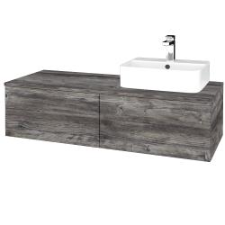 Dreja - Kúpeľňová skrinka MODULE SZZ12 120 - D10 Borovice Jackson / D10 Borovice Jackson / Pravé (301248P)