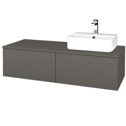 Dreja - Kúpeľňová skrinka MODULE SZZ12 120 - N06 Lava / N06 Lava / Pravé (301347P)