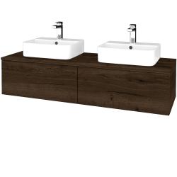 Dreja - Kúpeľňová skrinka MODULE SZZ12 140 - D21 TOBACCO / D21 Tobacco (303488)