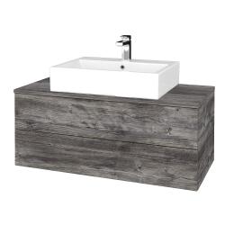 Dreja - Kúpeľňová skrinka MODULE SZZ2 100 - D10 Borovice Jackson / D10 Borovice Jackson (313456)