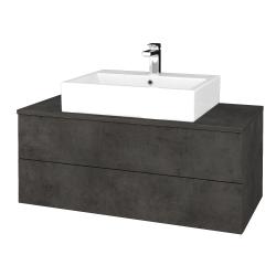 Dreja - Kúpeľňová skrinka MODULE SZZ2 100 - D16  Beton tmavý / D16 Beton tmavý (313470)