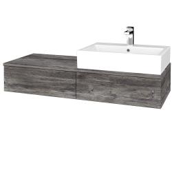 Dreja - Kúpeľňová skrinka MODULE SZZ2 120 - D10 Borovice Jackson / D10 Borovice Jackson / Levé (313920)