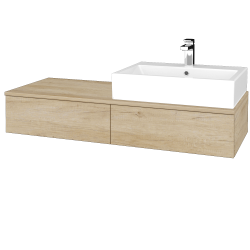 Dreja - Kúpeľňová skrinka MODULE SZZ2 120 - D15 Nebraska / D15 Nebraska / Levé (313937)