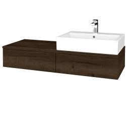 Dreja - Kúpeľňová skrinka MODULE SZZ2 120 - D21 TOBACCO / D21 Tobacco / Pravé (314750P)
