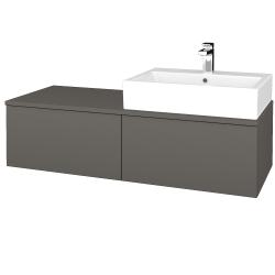 Dreja - Kúpeľňová skrinka MODULE SZZ12 120 - N06 Lava / N06 Lava / Pravé (315436P)